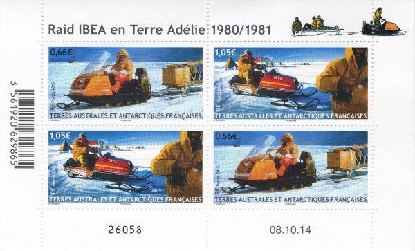 TAAF. Raid Ibea en Terre-Adélie (1980-1981), 2014 (création de Raphaëlle Goineau, impression offset) (© TAAF / R. Goineau)