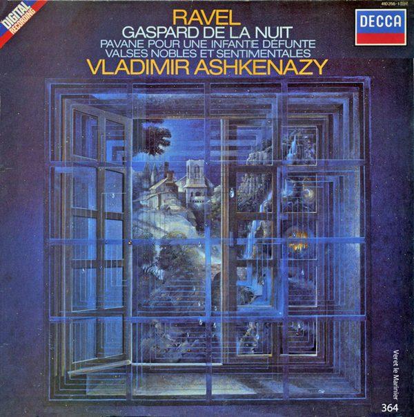 Jean-Paul Véret-Lemarinier, Gaspard de la nuit, gouache, pochette de disque de Ravel, 1984 (© JP. Véret-Lemarinier)