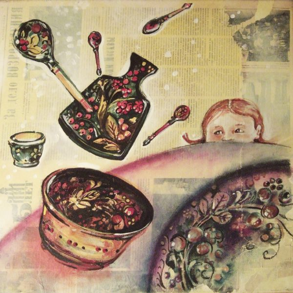 Christelle Guénot, Enfance Russie, vaisselle danse (© C. Guénot)