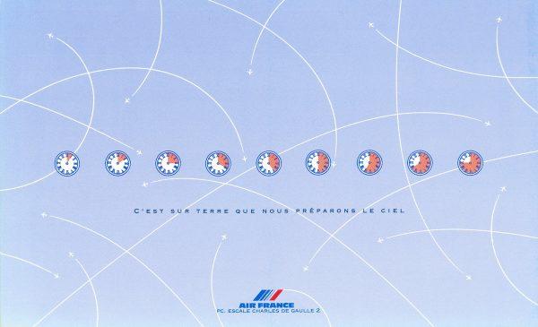 Valérie Besser, Air France, couverture d'une brochure concernant la présentation du poste de contrôle, 1992 (© Air France / V. Besser)
