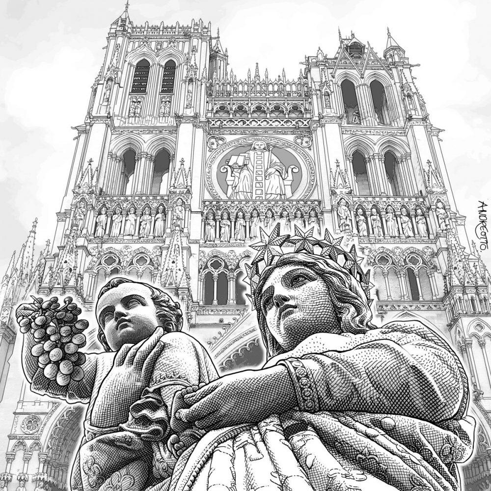 Claude Andréotto, Cathédrale, dessin, 2012 (© C. Andréotto)