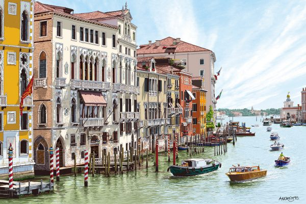 Claude Andréotto, Venice, mixed media (ink, paint and colored pencils) (2015 © C. Andréotto)