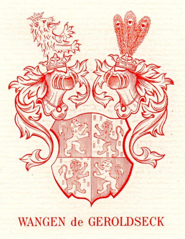 Guy Vigoureux, Ex-libris, Wangen de Geroldseck, gravure en taille-douce (© G. Vigoureux)