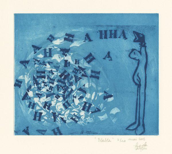 Elsa Catelin, Blabla, gravure, 2002 (© E. Catelin)