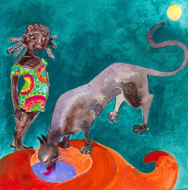 Christelle Guénot, Couty, spectacle conté, acrylique, 2005, 25 cm (© C. Guénot)