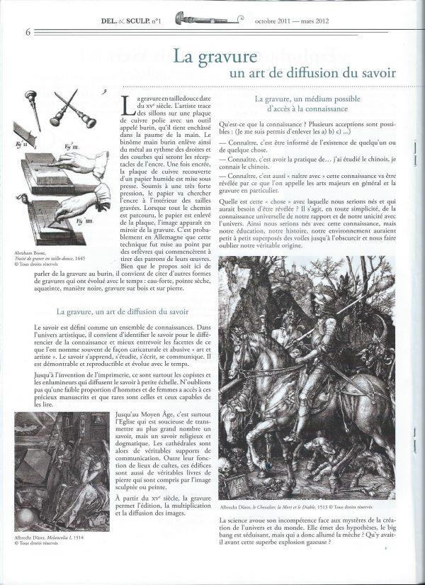 Revue Del. & Sculp., n° 1, page 6