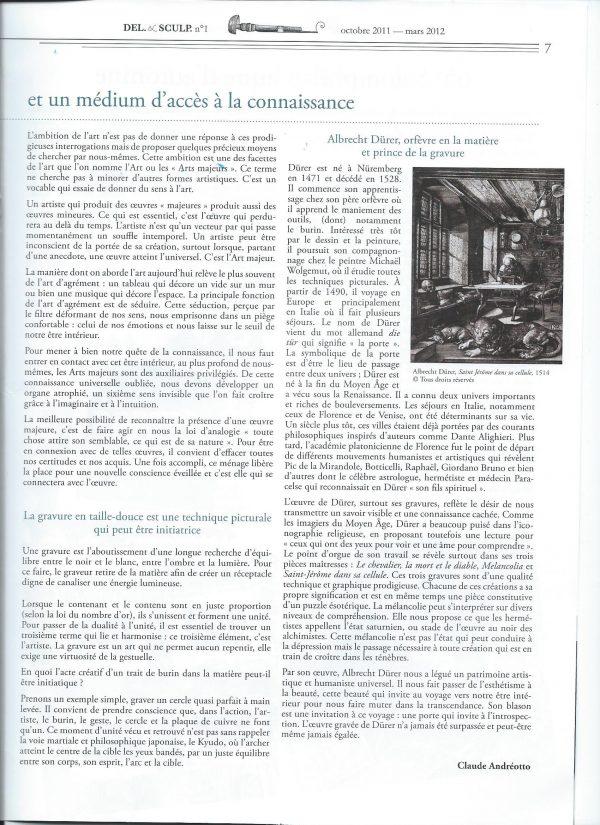 Revue Del. & Sculp., n° 1, page 7