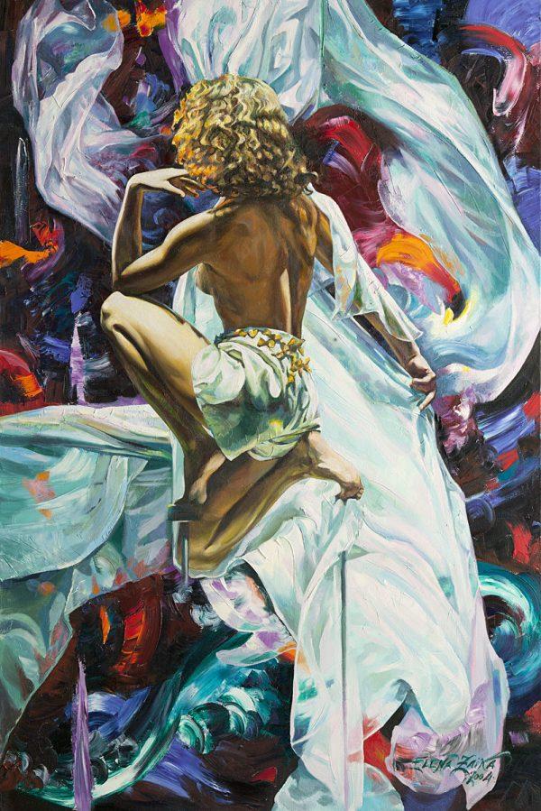 Elena Zaïka, Princesse du vent, huile sur toile, 150 x 100 cm, 2004 (© E. Zaïka)