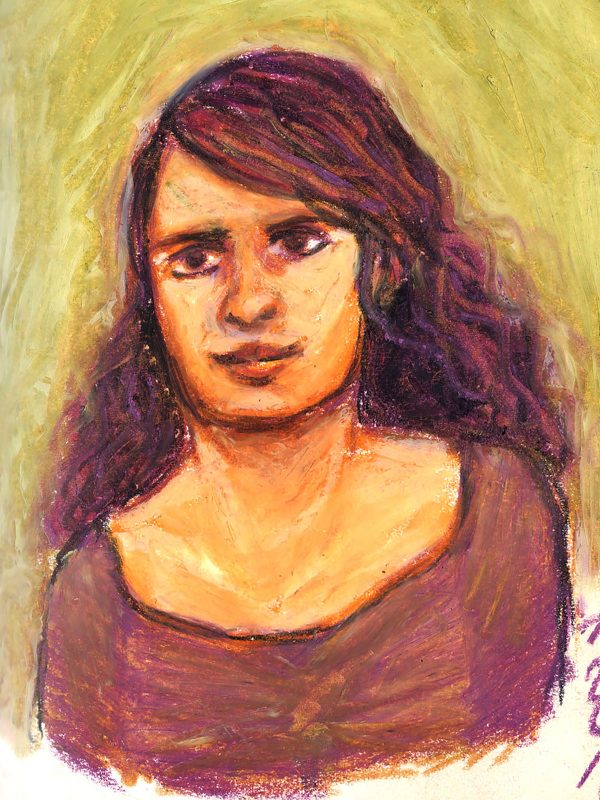 Pierre Bara, Jeune fille, craies grasse (© P. Bara)