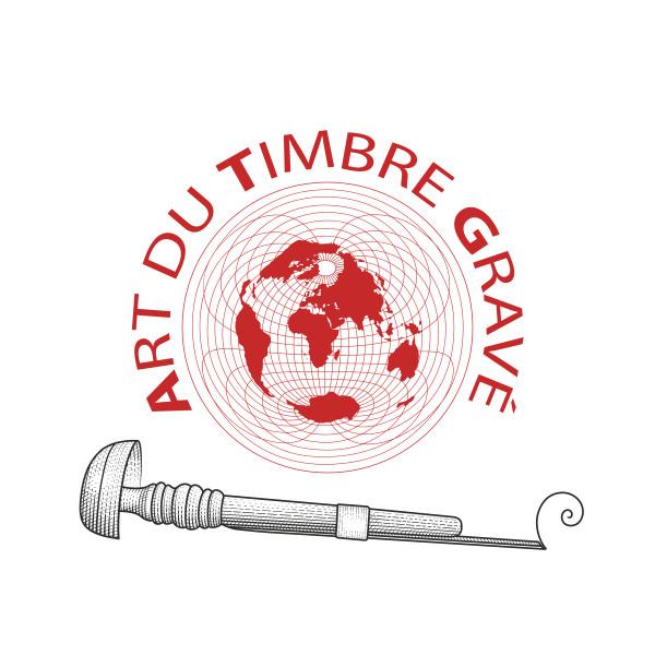 Logotype de l'Art du Timbre Gravé créé en 2005 par Pierre Albuisson © ATG/ P. Albuisson