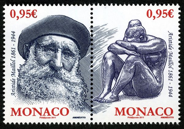 Monaco: Aristide Maillol, 2011 (drawing and engraving by Claude Andréotto, intaglio print) (© Monaco OETP / C. Andréotto)