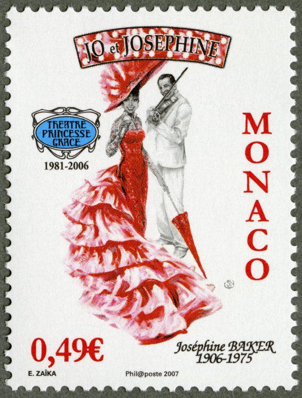Monaco : 25ème anniversaire du théâtre Princesse Grâce, 2006 (création d'Elena Zaïka, impression offset) (© Monaco OETP / E. Zaïka)
