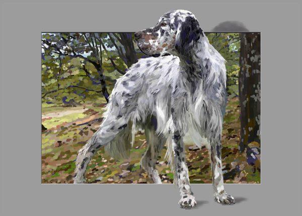 Pierre-André Cousin, Le chien, peinture digitalisée (© PA. Cousin)