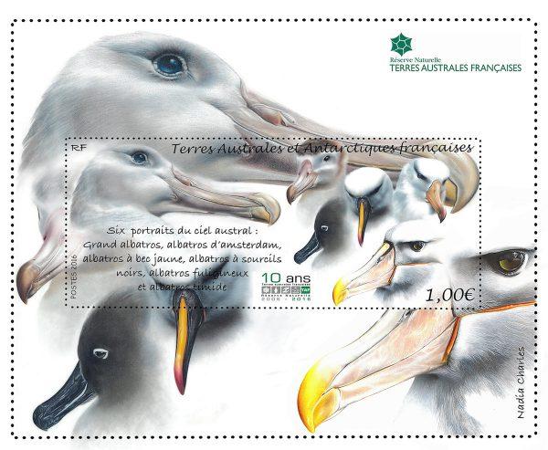 TAAF : Réserve naturelle. Albatros, 2016 (création de Nadia Charles, impression offset) (© TAAF / N. Charles)