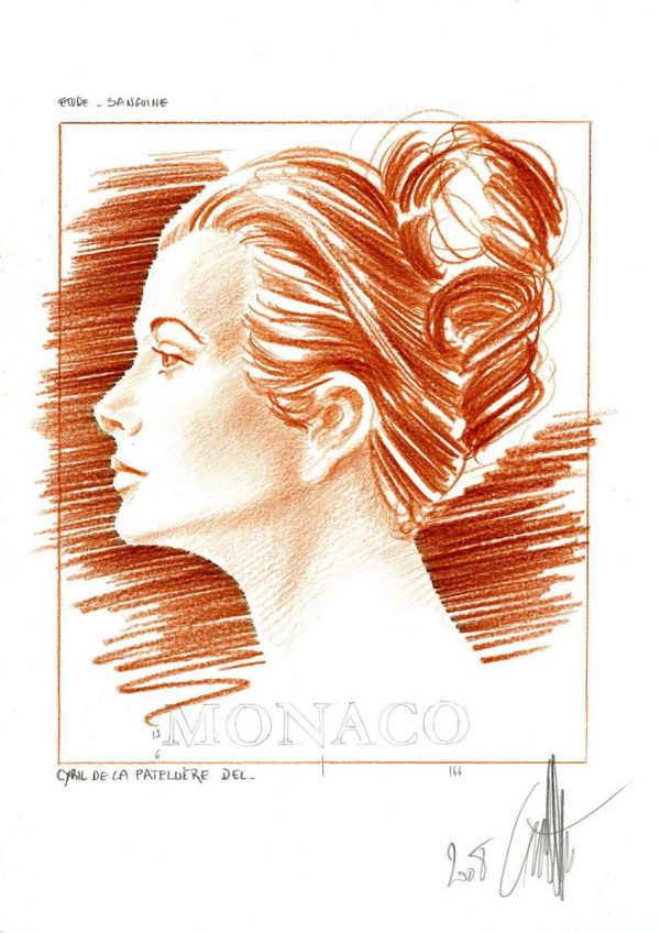 Monaco : Princesse Grâce, 2008, non émis (maquette) (© C. de La Patellière)