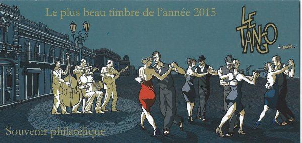 Souvenir philatélique. Le plus beau timbre de l'année 2015 : Le tango (© La Poste / C. Laborde-Balen)