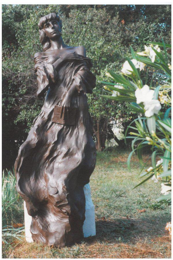 Cyril de La Patellière, La poétesse au bord du lac, bronze, H : 2,10 m, 2002 (Collection particulière, Lausanne) (© C. de La Patellière)