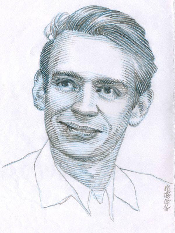 Pierre Bara, Stig dagerman, crayons (© P. Bara)