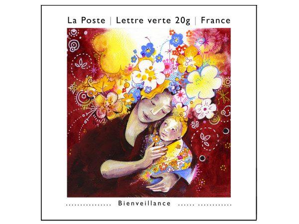 France : Les petits bonheurs. Bienveillance, 2013 (Conception de Christelle Guénot, carnet de timbres autoadhésifs, impression héliogravure) (© La Poste / C. Guénot)