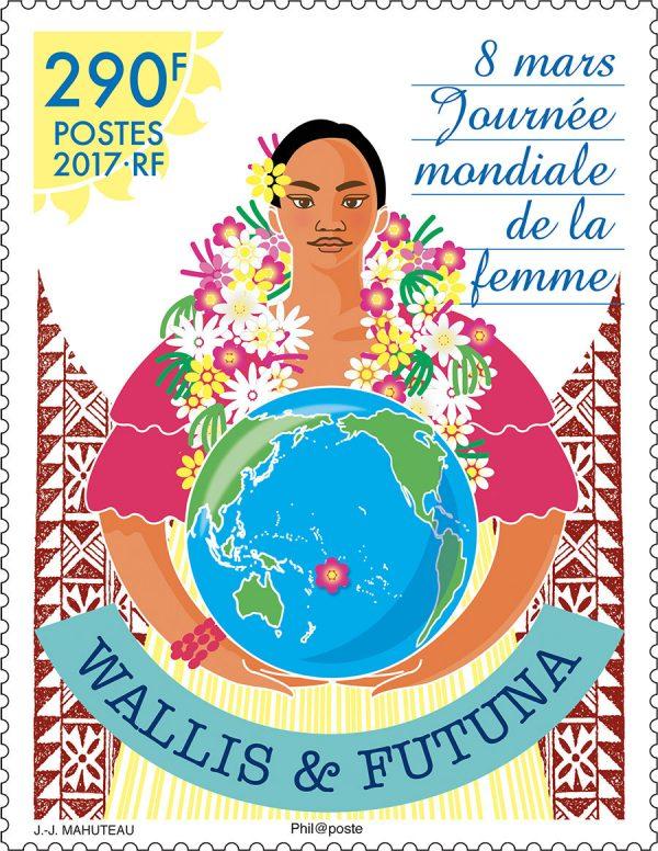 Wallis et Futuna : 8 mars, journée mondiale de la femme, 2017 (création de Jean-Jacques Mahuteau, impression  offset) (© Wallis et Futuna / JJ. Mahuteau)