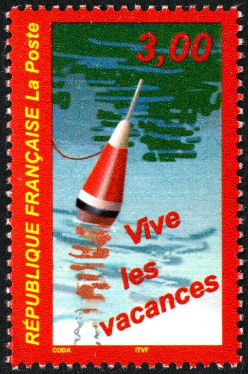 France. Vive les vacances, 1999 (création de Guy Coda, impression héliogravure) (© La Poste / G. Coda)