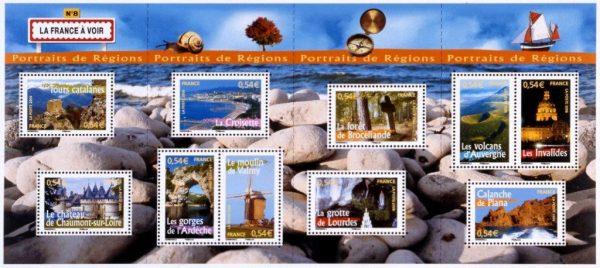 France : Carnet Portraits de régions. La France à voir, 2006 (© La Poste / C. Guénot)