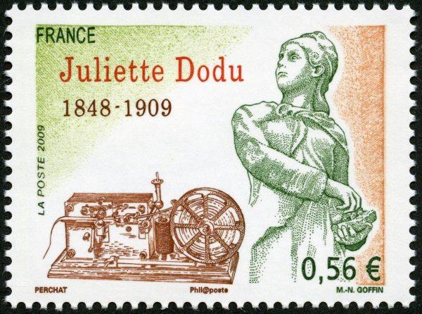France : Juliette Dodu, 2009 (conception et mise en page de Claude Perchat, gravure de Marie-Noëlle Goffin, impression taille-douce) (© La Poste / C. Perchat / MN. Goffin)