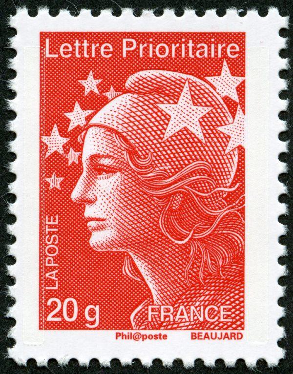 France. Marianne de l'Europe, 2012 (dessin et gravure d'Yves Beaujard, impression taille-douce) (© La Poste / Y. Beaujard)