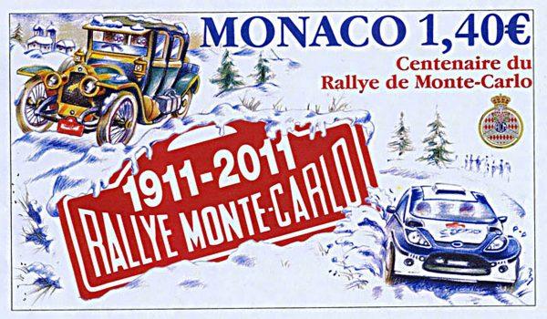 Monaco. Centenaire du rallye de Monte-Carlo, 2011 (création d'Alain Giampaoli, impression héliogravure) (© Monaco OETP / A. Giampaoli)