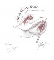 Art du timbre gravé, crayon et burin, gravure n° 1 - 2005 (dessin : Taraskoff Marc et gravure : Beaujard Yves)