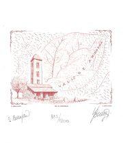 Vallée d'Andorre, gravure n° 15 - 2012 (dessin : Beaujard Sophie et gravure : Beaujard Yves)