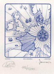 L'Europe, gravure n° 16 - 2013 (dessin : Catelin Elsa et gravure : Boursier Louis)