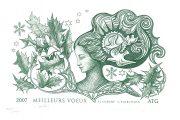 Femme fleur, vœux 2007, gravure n° 4 - 2006 (dessin : Lambert Pierrette et gravure : Albuisson Pierre)