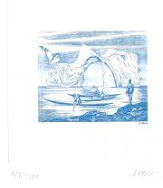 Vœux 2008, gravure n° 6 - 2007 (dessin : Arquer Louis et gravure : Vigoureux Guy)