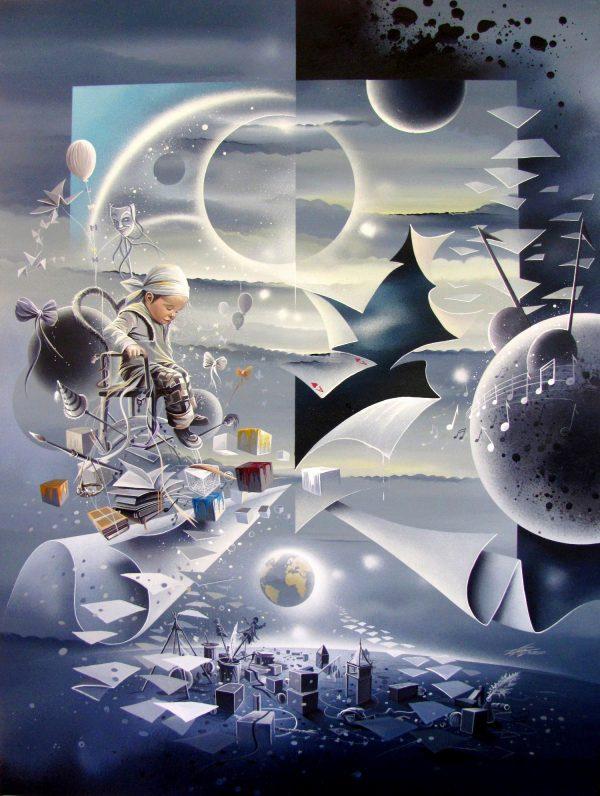 Thierry Mordant, Zelie I, peinture acrylique sur toile, 123 x 92 cm, 2012 (collection privée) (© T. Mordant)