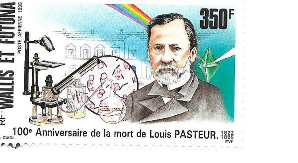 Wallis et Futuna. 100ème anniversaire de la mort de Louis Pasteur, 1995 (création de François Guiol, impression offset) (© Wallis et Futuna / F. Guiol)