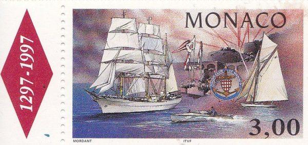 Monaco. Yacht Club de Monaco, 1997 (création de Thierry Mordant, impression héliogravure) (© Monaco OETP / T. Mordant)