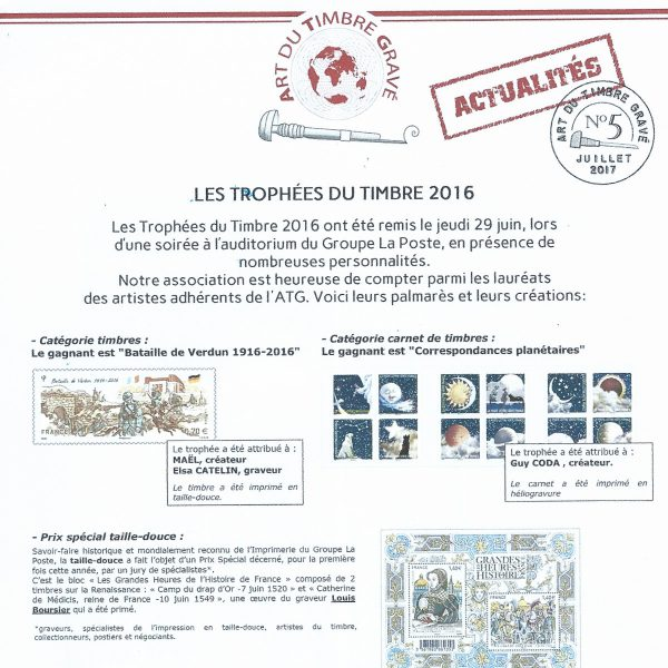 ATG Actualités n° 5, juillet 2017