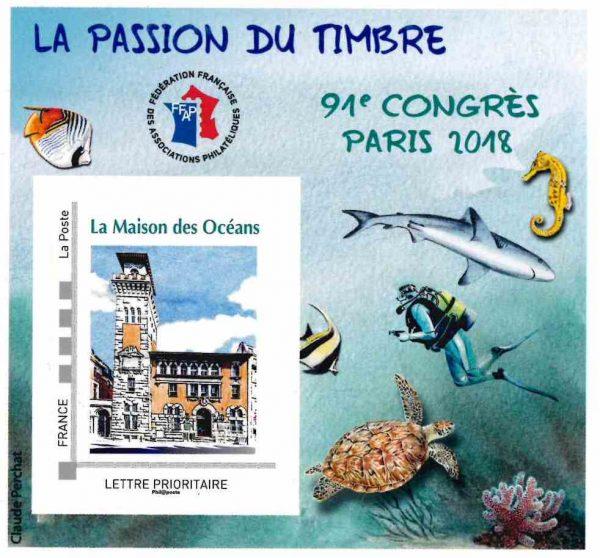 """Claude Perchat, """"la maison des océans"""", Paris, bloc de la FFAP pour le 91ème congrès, Paris-Philex 2018. (© FFAP/C. Perchat)"""