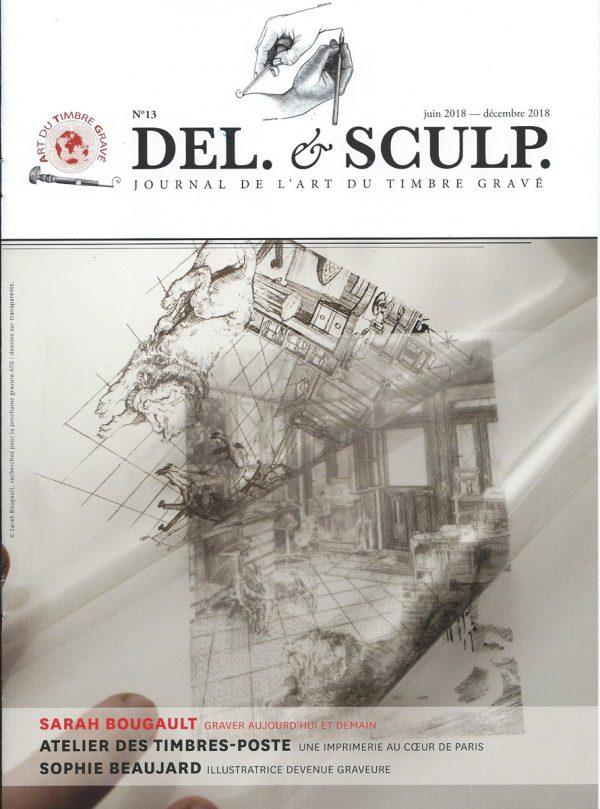 Revue Del et Sculp, n° 13, juin /décembre 2018, page de couverture.