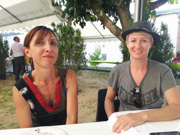 Elsa Catelin et Yz lors de la journée du dévoilement