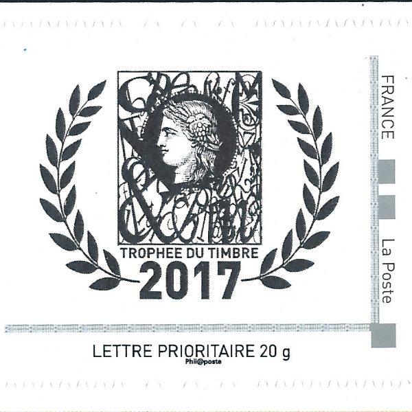 Collector Phil@poste de 4 timbres pour la 27ème cérémonie des Trophées du Timbre 2017 remis le 7 juin 2018 (détail) (© Phil@poste)