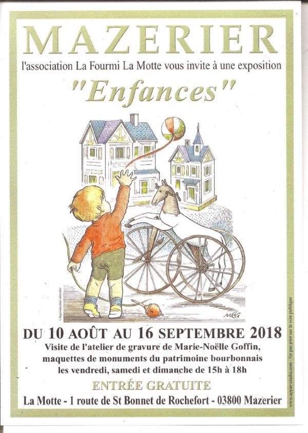 Affiche de l'exposition de l'association La Fourmi -La Motte, Mazerier, 2018 (©. MN.Goffin)