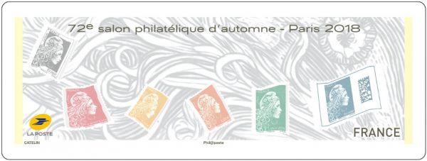 Vignette LISA, Salon philatélique d'Automne, Marianne l'engagée, 2018 (création Elsa Catelin, d'après Yseult Digan YZ, impression offset) (© La Poste/YZ/E.Catelin)