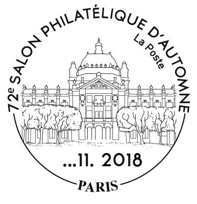 Timbre-à-date du Salon philatélique d'Automne, 2018 (© La Poste)