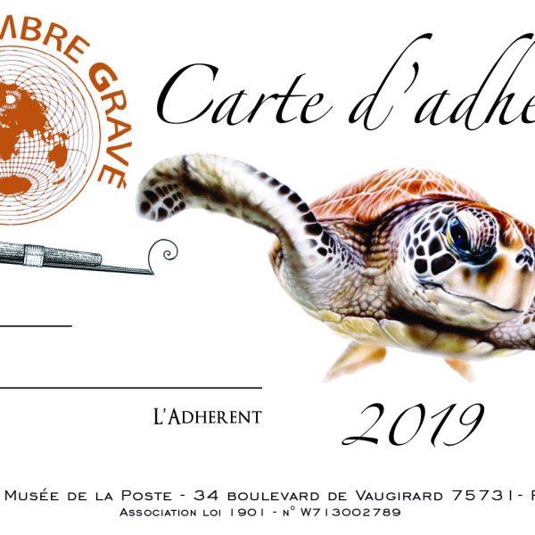 Carte de membre 2019 illustrée par Nadia Charles (© ATG/N. Charles)