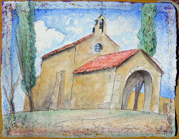 Fabrice Monaci, Chapelle, aquarelle (© F. Monaci)