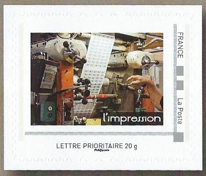 L'impression, imprimerie des timbres-poste de Phil@poste Boulazac, Périgueux, collector La Poste 2018 (© La Poste)