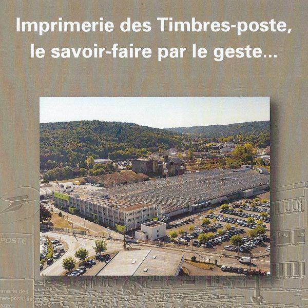 Vue de l'imprimerie des timbres-poste de Phil@poste Boulazac, Périgueux, collector La Poste 2018 (© La Poste)