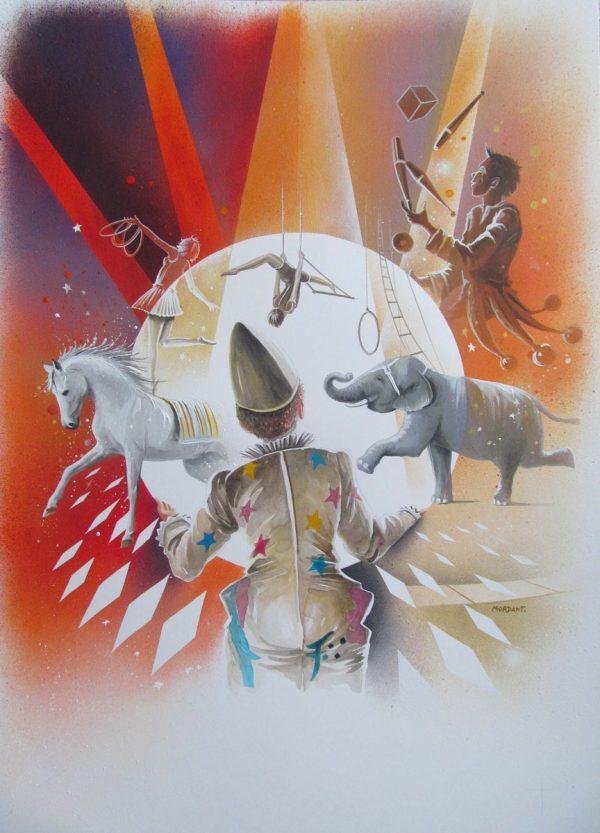 Thierry Mordant, Projet peinture II, acrylique sur toile © T. Mordant